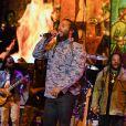 "Ziggy, Julian, Stephen, Damian et Ky-Mani Marley en concert lors du ""Kaya Music Festival"" à Miami, le 20 avril 2019."