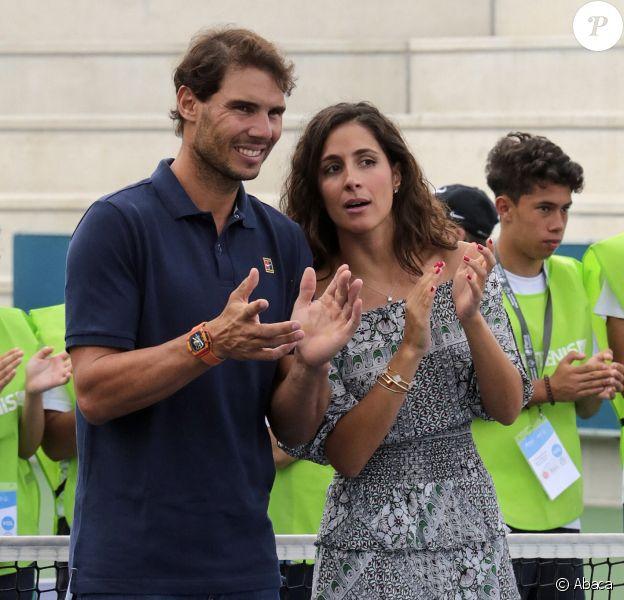 Rafael Nadal et Maria Francisca Perello lors d'un évènement caritatif organisé à Majorque le 18 septembre 2018.