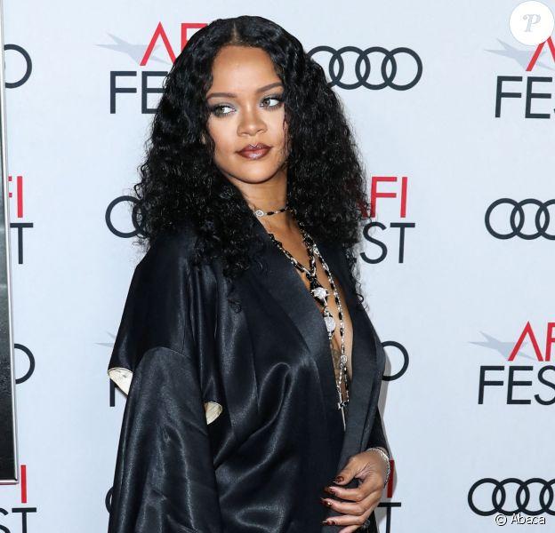 """Rihanna à l'avant-première du film """"Queen et Slim"""" à Los Angeles, au AFI Fest, le 14 novembre 2019."""