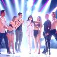 Jenifer sur le plateau de Danse avec les stars sur TF1 le 16 novembre 2019.