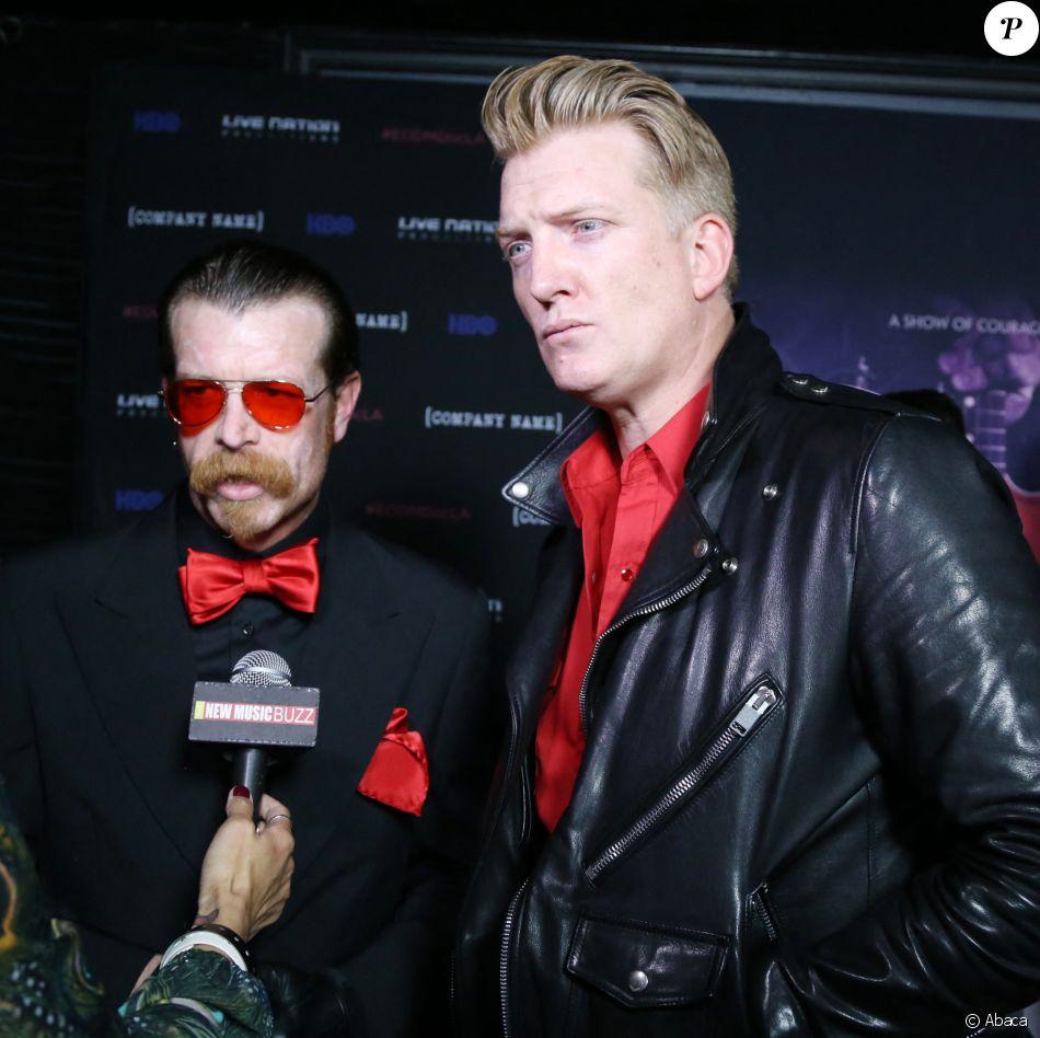 Josh Homme et Jesse Hugues d'Eagles of Death Metal lors de l'avant-première du documentaire HBO Eagles Of Death Metal : Nos Amis (Our Friends) à Los Angeles le 2 février 2017. ©Milla Cochran/Startraks/ABACAPRESS.COM