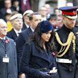 Le prince Harry, duc de Sussex, et Meghan Markle, duchesse de Sussex, assistent au 91ème 'Remembrance Day', une cérémonie d'hommage à tous ceux qui sont battus pour la Grande-Bretagne, à Westminster Abbey, le 7 novembre 2019.