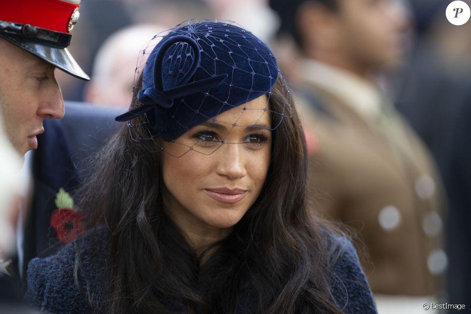 Meghan Markle, duchesse de Sussex, assiste au 'Remembrance Day', une cérémonie d'hommage à tous ceux qui sont battus pour la Grande-Bretagne, à Westminster Abbey, le 7 novembre 2019.