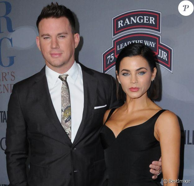 """Channing Tatum et Jenna Dewan Tatum - Avant-première du film """"War Dog: A Soldier's Best Friend"""" à Los Angeles, le 6 novembre 2017."""