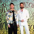 Ricky Martin et son mari Jwan Yosef assistent au défilé Dior, collection homme automne-hiver 2020, au Musée Rubell. Miami, le 3 décembre 2019.
