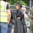 Emma Thompson sur le tournage de Nanny McPhee 2, à Londres. Juillet 2009