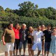 """Maude de """"L'amour est dans le pré 2019"""" lors du tournage du bilan, avec les autres agriculteurs, près d'Avignon, en septembre - photo Instagram du 3 décembre"""