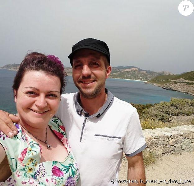 """Maud et Laurent de """"L'amour est dans le pré 2019"""" en Corse, en juin - photo Instagram du 20 novembre 2019"""