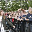 Laura Smet au concert de Johnny Hallyday, le 14 juillet 2009.