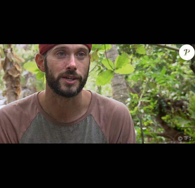 """Cyril dans """"Koh-Lanta, la guerre des chefs"""" (TF1) le 19 avril 2019."""