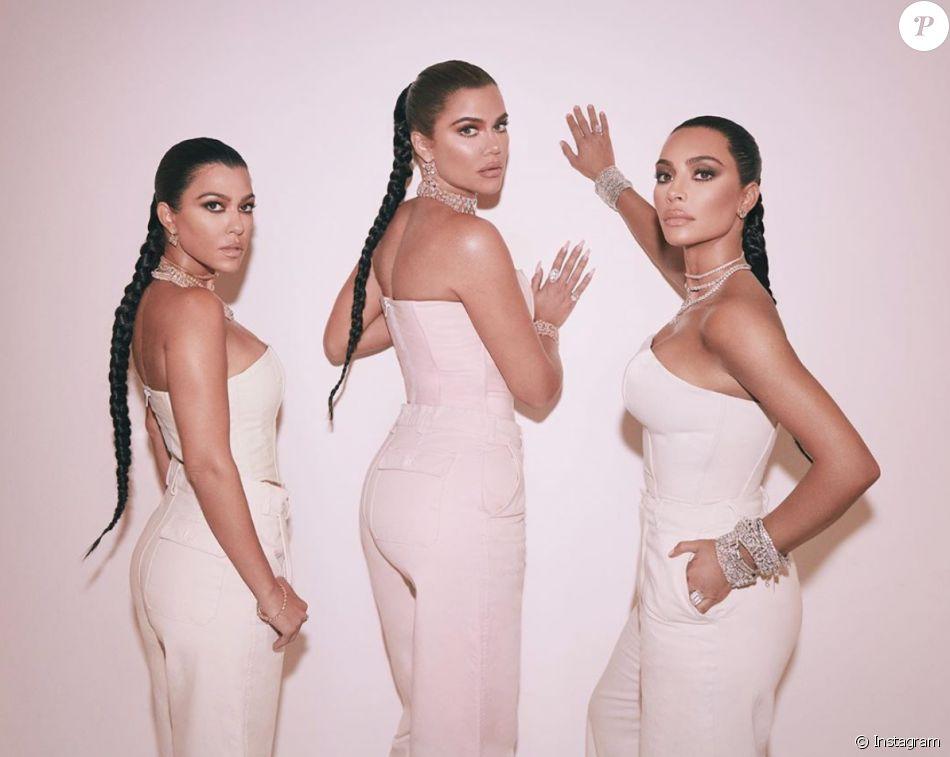 Kourtney, Khloé et Kim Kardashian. Novembre 2019.