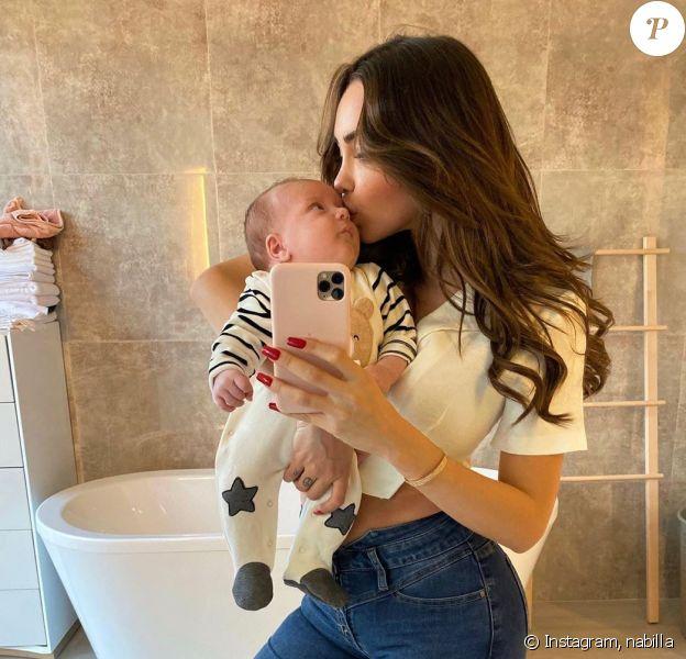 Nabilla Benattia partage un tendre moment avec son fils Milann, le 2 décembre 2019