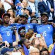 Florentin Pogba et Mathias Pogba (frères de Paul Pogba) lors du match de la finale de l'Euro 2016 Portugal-France au Stade de France à Saint-Denis, France, le 10 juillet 2016. © Cyril Moreau/Bestimage