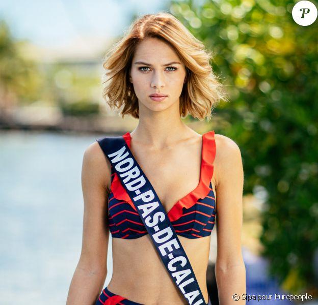Miss Nord-Pas-de-Calais, Florentine Somers, lors du voyage Miss France 2020, à Tahiti, en novembre 2019.