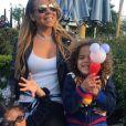 Mariah Carey et ses enfants Monroe et Moroccan. Instagram. Le 30 avril 2019.