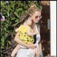 Nicole Richie, enceinte, et sa fille Harlow.