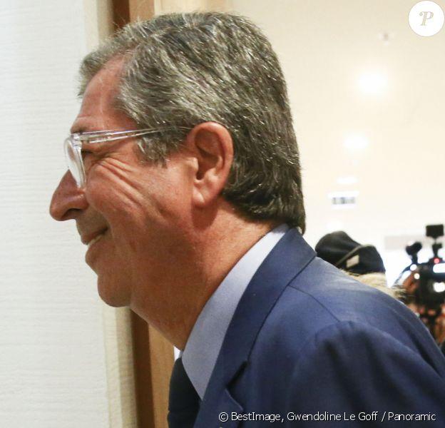 Patrick Balkany au tribunal de Paris avant le verdict de son procès pour fraude fiscale le 13 septembre 2019. © Gwendoline Le Goff / Panoramic / Bestimage