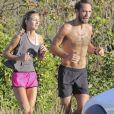 Exclusif  - James Middleton et Alizee Thevenet font leur jogging matinal à Saint-Barthélemy. Le 5 janvier 2019.