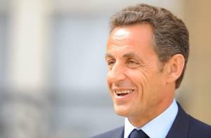 Nicolas Sarkozy, sur le perron de l'Elysée :