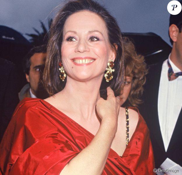 Claudine Auger au Festival de Cannes en 1991.