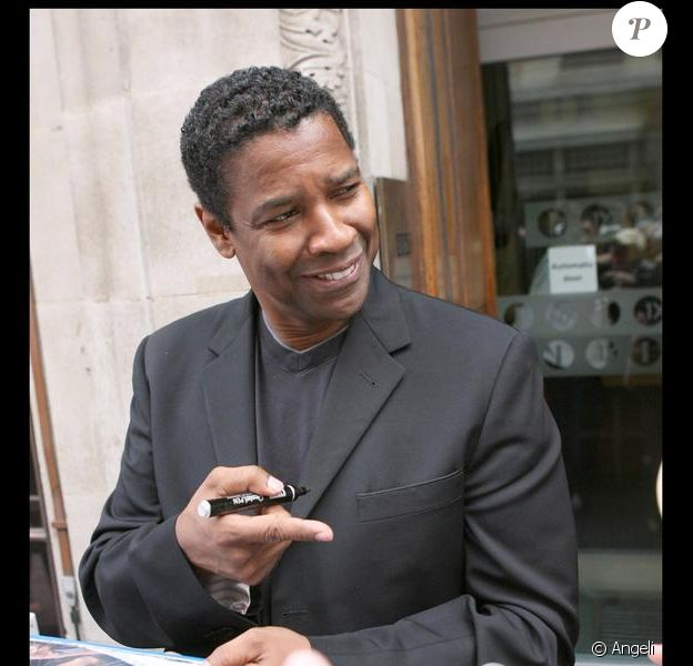Denzel Washington en promotion à Londres le 22 juillet 2009
