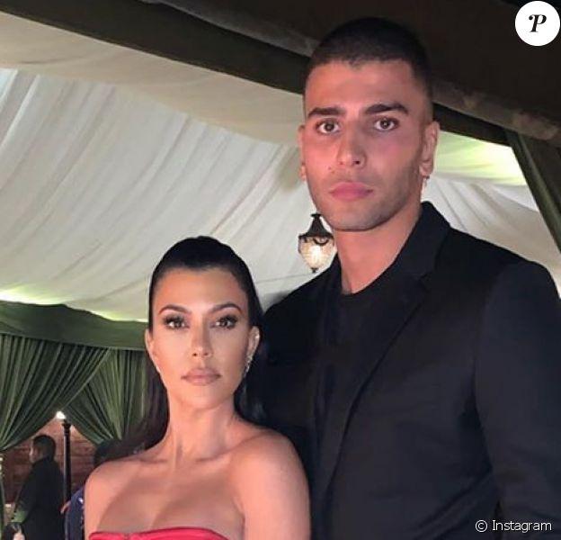 Kourtney Kardashian et Younes Bendjima le 27 décembre 2019 sur Instagram.