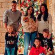 Jamie Vardy avec toute sa famille pour Noël, Rebekah, leurs 3 enfants et les 2 enfants de sa femme. Instagram, le 25 décembre 2019.