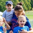 La princesse Victoria de Suède, la princesse Estelle de Suède - Les enfants du prince Daniel participent à la journée Pep au parc Hagaparken à Stockholm, le 8 septembre 2019.