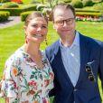 La princesse Victoria de Suède, le prince Daniel de Suède - La famille royale de Suède célèbre l'anniversaire (42 ans) de la princesse Victoria de Suède à la Villa Solliden à Oland en Suède, le 14 juillet 2019.