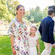 La princesse Victoria de Suède et son mari le prince Daniel de Suède - La famille royale de Suède célèbre l'anniversaire (42 ans) de la princesse Victoria de Suède à la Villa Solliden à Oland en Suède, le 14 juillet 2019.