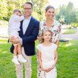 La princesse Victoria de Suède et son mari le prince Daniel de Suède, la princesse Estelle de Suède, le prince Oscar de Suède - La famille royale de Suède célèbre l'anniversaire (42 ans) de la princesse Victoria de Suède à la Villa Solliden à Oland en Suède, le 14 juillet 2019.