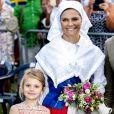 Princesse Estelle et la princesse Victoria - La princesse Victoria de Suède fête son 41ème anniversaire à Borgholm en Suède le 14 juillet 2018.