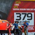 379 Chen Feng (chn), Shong Lei (chn), Chevrolet, Sodicars Racing, Auto, Car, action lors de la cérémonie de départ du Dakar 2020 à Djeddah, Arabie Saoudite, le 4 janvier 2020. © François Flamand/Panoramic/Bestimage