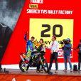 20 Aubert Johnny (fra), Sherco TVS, Sherco TVS Rally Factory, Moto, Bike, Motul, action lors de la cérémonie de départ du Dakar 2020 à Djeddah, Arabie Saoudite, le 4 janvier 2020. © François Flamand/Panoramic/Bestimage