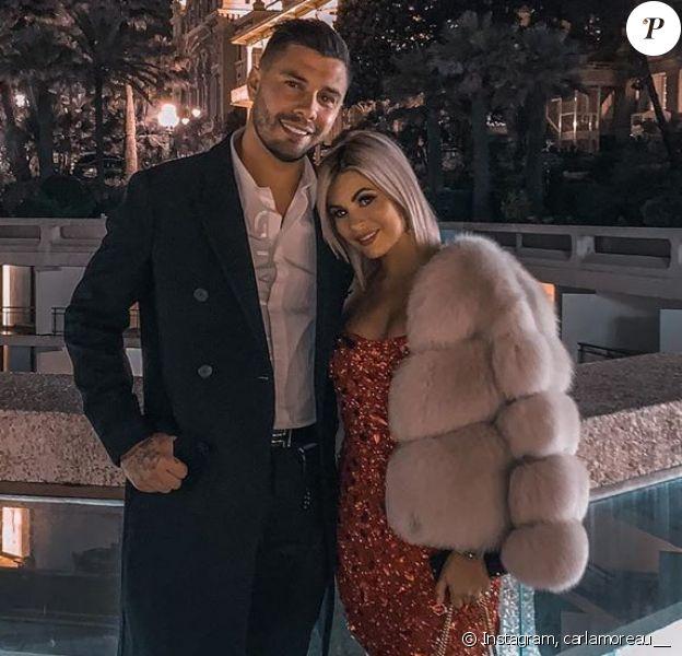 Carla Moreau et Kevin Guedj à Monaco, le 1er janvier 2020, sur Instagram