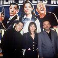 """Archives - Les Nuls présentent leur film """"La Cité de la Peur"""". Paris. Le 1er mars 1994."""