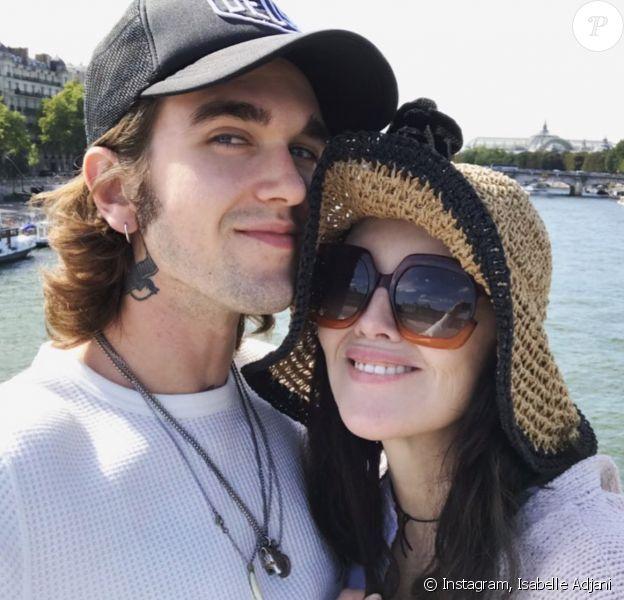 Isabelle Adjani et son fils Gabriel Kane. Septembre 2019.