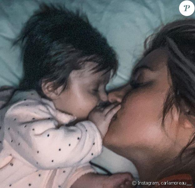 Carla Moreau avec sa fille Ruby, le 2 janvier 2020