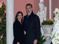 Obsèques de Pilar de Bourbon : Letizia et Felipe d'Espagne soudés
