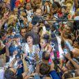 Clémence Botino, Miss France 2020 et Ophély Mézino, première dauphine de Miss Monde 2019, accueillies en grande pompe à l'aéroport de Pointe-à-Pitre, en Guadeloupe. De retour, sur leur île natale, un mois après leurs sacres. Photo de Alain Cassang/ABACAPRESS.COM
