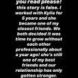 Victoria Villarroel, ancienne assitante de Kylie Jenner, sur Instagram.