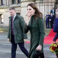 Le prince William, duc de Cambridge, et Catherine Kate Middleton, duchesse de Cambridge, lors d'une visite à la mairie de Bradford le 15 janvier 2020.