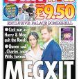 """Une une de la presse sur le """"Megxit"""" après la décision du prince Harry et de Meghan Markle de quitter le service de la couronne d'Angleterre en janvier 2020."""