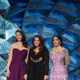 Ashley Judd, Annabella Sciorra et Salma Hayek sur la scène lors de la 90ème cérémonie des Oscars 2018 au théâtre Dolby à Los Angeles, Californie, Etats-Unis, le 4 mars 2018. © AMPAS/Zuma Press/Bestimage