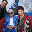 Michou, Fabienne Thibeault et son mari Christian Montagnac - Michou fête son 88ème anniversaire dans son cabaret avec ses amis à Paris le 18 juin 2019 © JLPPA/Bestimage