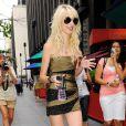 Taylor Momsen sur le tournage de Gossip Girl, le 5/08/09 à New York