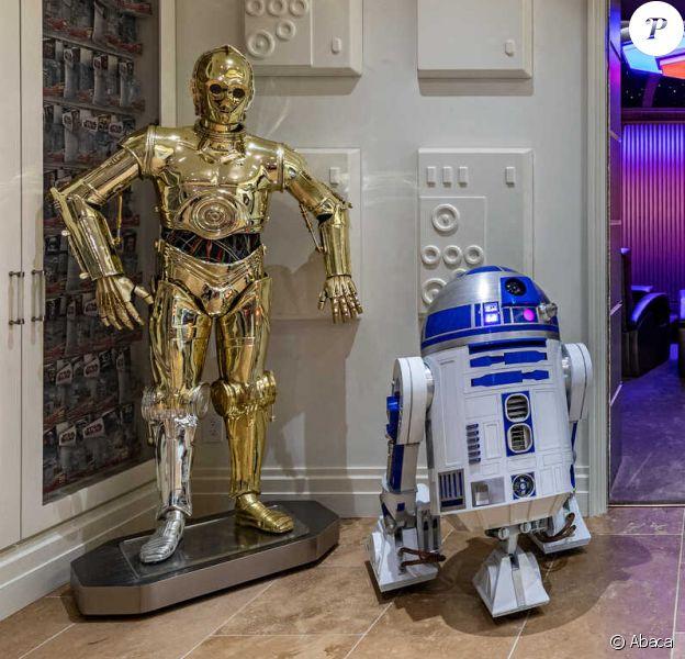 """Découvrez la maison de rêve de tous les fans de """"Star Wars"""", située dans le quartier Hidden Hills de Los Angeles. Photographies prises le 12 novembre 2019. @The Agency/Cover Images/ABACAPRESS.COM"""