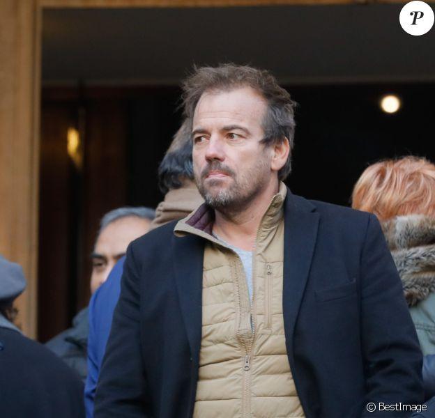 Stéphane Henon - Sorties des obsèques de la comédienne Pascale Roberts en l'église Saint Roch à Paris le 8 novembre 2019.