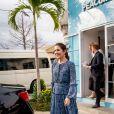 La princesse Mary de Danemark s'est rendue au Coffee Shop Peacumber, qui abrite une clinique de santé mobile, à Yogyakarta, à l'occasion de son voyage en Indonésie. Le 3 décembre 2019