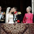 Mariage du prince Frederik et de la princesse Mary de Danemark en 2004 à Copenhague.